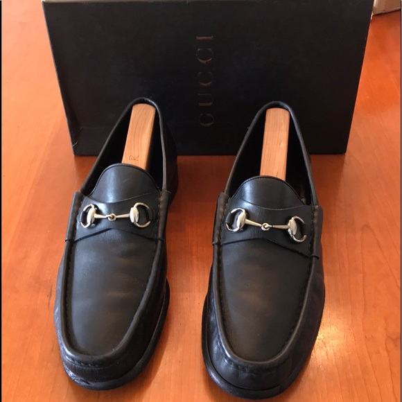 8bf8cb9d4ed Gucci Other - Men s Gucci Silver Horsebit Loafers Black 10.5 D